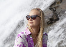 Портрет водопадом Стоковое фото RF