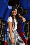 Портрет волос тайской женщины длинный Стоковые Изображения RF