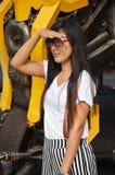 Портрет волос тайской женщины длинный Стоковые Фотографии RF