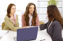 портрет встречи бизнес-группы Стоковое Изображение