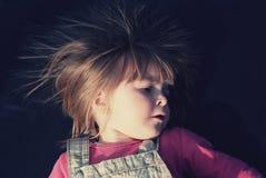 Портрет двухклассного года сбора винограда девушки Стоковое Фото