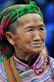 Портрет въетнамской женщины от племени Hmong Стоковое фото RF