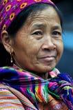 Портрет въетнамской женщины от племени Hmong Стоковая Фотография RF