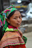 Портрет въетнамской женщины от племени Hmong Стоковая Фотография
