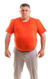 Портрет выразительного тучного человека стоковая фотография rf