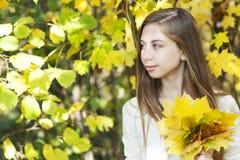 Портрет в парке осени Стоковое Изображение