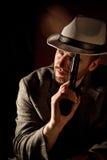 портрет гангстера Стоковая Фотография