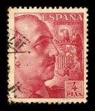 Портрет генерала Franco с гербом стоковые изображения rf