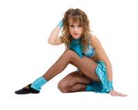 Портрет гимнаста женщины, изолированный на белизне Стоковое Изображение