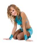 Портрет гимнаста женщины, изолированный на белизне Стоковая Фотография RF