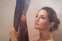 Портрет гимнастов девушки Стоковая Фотография RF