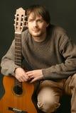 портрет гитариста Стоковое Фото