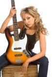 портрет гитары девушки Стоковые Фото