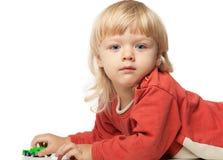 портрет голубого мальчика eyed Стоковое Изображение