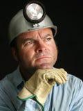 портрет горнорабочей угля Стоковая Фотография