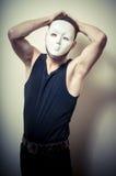 Портрет год сбора винограда ванты способа с белой маской Стоковое Фото