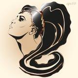 Портрет графиков стиля девушки Стоковые Фотографии RF