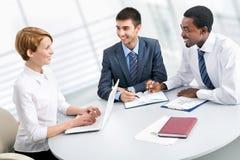 Портрет групповой встречи бизнес-группы Стоковые Изображения RF