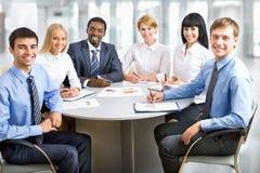 Портрет групповой встречи бизнес-группы Стоковые Фотографии RF