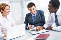 Портрет групповой встречи бизнес-группы Стоковое Изображение