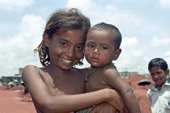 Портрет группы плохих бангладешских детей Стоковые Фото