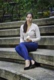 Портрет девочка-подростка Стоковое Изображение