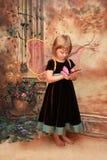 портрет девушки бабочки Стоковое Изображение