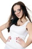 Портрет девушки в джинсыах и нижнем белье Стоковое Изображение