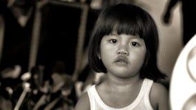 Портрет девушки в черно-белом в Индонезии Стоковые Изображения