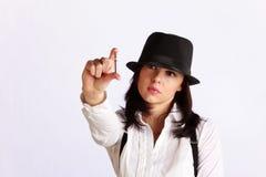 портрет девушки гангстера Стоковое фото RF