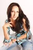 портрет девушки милый Стоковые Фото