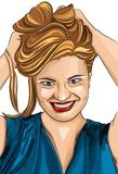 Портрет девушки моды красивый Стоковое фото RF