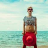 портрет девушки на море Стоковое Фото