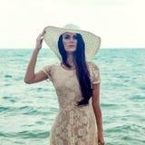 портрет девушки на море Стоковые Изображения RF