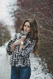Портрет девушки на прогулке 4971 зимы Стоковое Фото