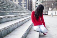 портрет девушки непознаваемый стоковая фотография rf
