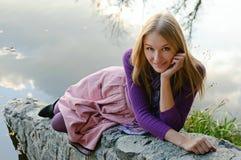 портрет девушки осени Стоковое Фото