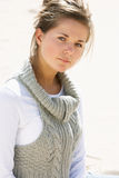 портрет девушки пляжа довольно подростковый Стоковое Изображение RF
