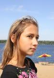 портрет девушки пляжа красивейший Стоковые Фото