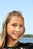 портрет девушки пляжа красивейший Стоковая Фотография RF