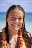 портрет девушки пляжа подростковый Стоковое Фото