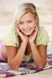 портрет девушки пляжа подростковый Стоковые Изображения RF