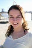 портрет девушки пляжа Стоковая Фотография RF