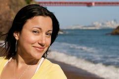 портрет девушки пляжа Стоковое Изображение RF