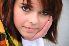 портрет девушки подростковый Стоковое Изображение
