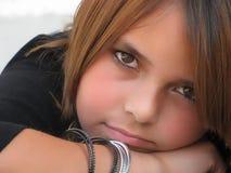 портрет девушки подростковый Стоковые Фото