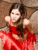 портрет девушки предназначенный для подростков стоковое изображение