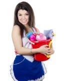 портрет девушки принципиальной схемы чистки Стоковые Фотографии RF