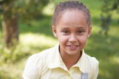 Портрет девушки ребенок счастливый Улыбка Стоковое Фото