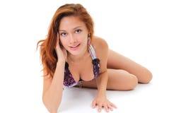 портрет девушки сексуальный Стоковая Фотография RF